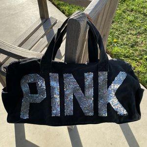 Victoria's Secret PINK Sequin Bling Duffle Bag